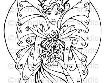 DIGITAL STAMP - Lily the Fairy of Enchantment