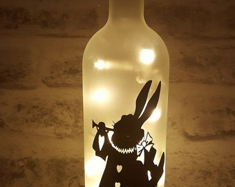 March Hare Bottle Lamp | Alice In Wonderland