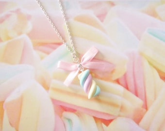necklace marshmallow polymer clay