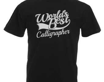 Calligrapher Gift Adults Mens Black T Shirt Sizes From Small - 3XL