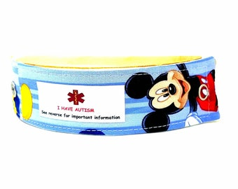 Kids Medical Alert Bracelet Child ID Bracelet Baby Allergy Alert Clothing Mickey Mouse
