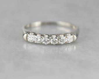Pave Diamond White Gold Wedding Band MUPCFP-N
