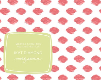 Hand drawn Ikat diamond seamless pattern, repeating web tile, digital paper, website background, blog background, vector, psd file