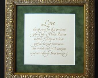 Precious Gift of Life Prayer