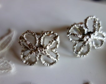 Cufflinks, wedding decorations for the groom, floral motif, extravagant cufflinks for the gentleman or the lady,