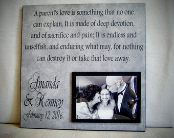 Parents of the Bride Gift, Parents of the Groom Gift, Parent Thank ...
