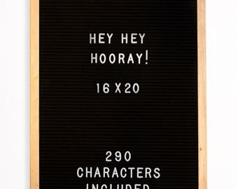 Hey Hey Hooray 16x20 Felt Letter Board with 290 3/4'' Characters Included