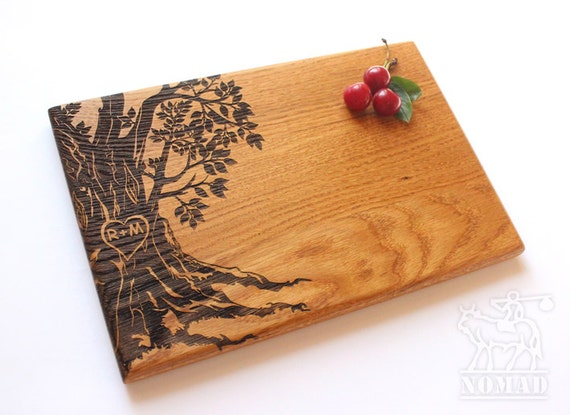Monogrammed Wedding Gifts Couple: Personalized Cutting Board Wedding Gift Tree Cutting Board
