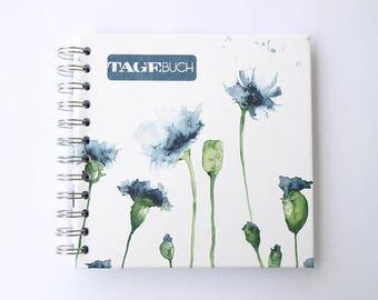 """Tagebuch """"Kornblumen"""" quadratisch"""