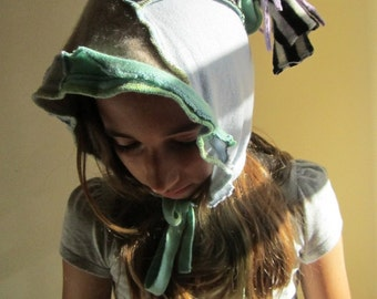 Felted Patchwork Elf Pixie Recycled Cashmere Hat