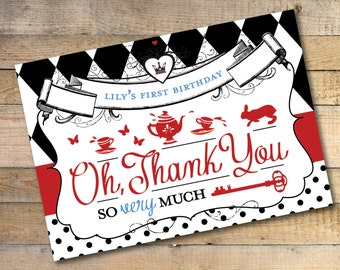 Alice in Wonderland Thank You Card