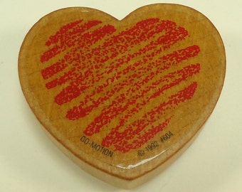 Squiggle Heart Wood Mounted Rubber Stamp By Comotion