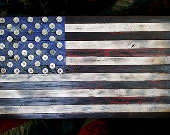 Wood USA Flag - Reclaimed Wood USA Flag - Rustic Wood USA Flag Sign - Handmade Wood United States Flag