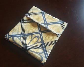 Ready to ship! Pad Wrapper- Yellow Plaid