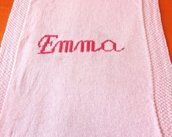 Cover or wool for kids with name