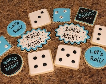 Bunco Themed Cookies (1 dozen)