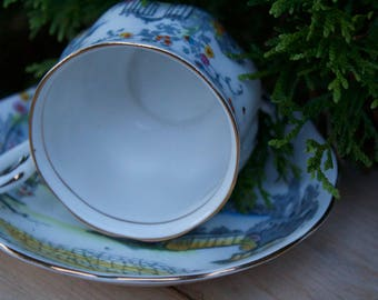 Royal Albert Bone China Vintage Teacup Rosedale Pattern