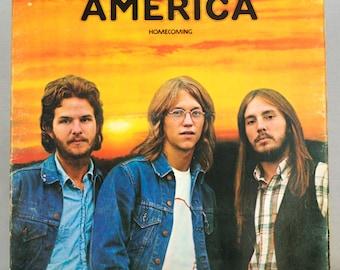 America - Homecoming Album 1972 Warner Bros. Records Original Vintage Vinyl Rock Record LP