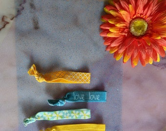 Elastic Hair Ties - Love Set - Set of Four