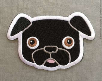 Buddy Black Pug Patch