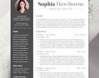 CV Template Design With Photo, Word, Mac Or PC, Professional, Free Cover