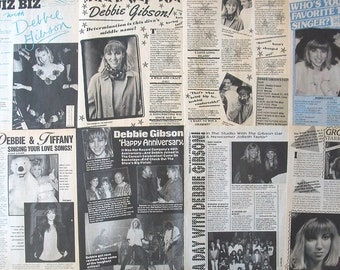 DEBBIE GIBSON ~ Lost In Your Eyes, Only In My Dreams, Electric Youth, Acting Dead, Deborah Gibson ~ B&W Articles from 1988-1990 - Batch 1