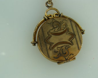 Early 1900 Gold Filled Round Loocket