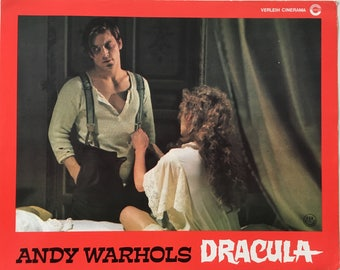 Set of 2 German lobbycards Andy Warhols Dracula (Blood for Dracula ) Dir.  Paul Morrissey 1974 Size 30 x 24 cm  Condition: Good