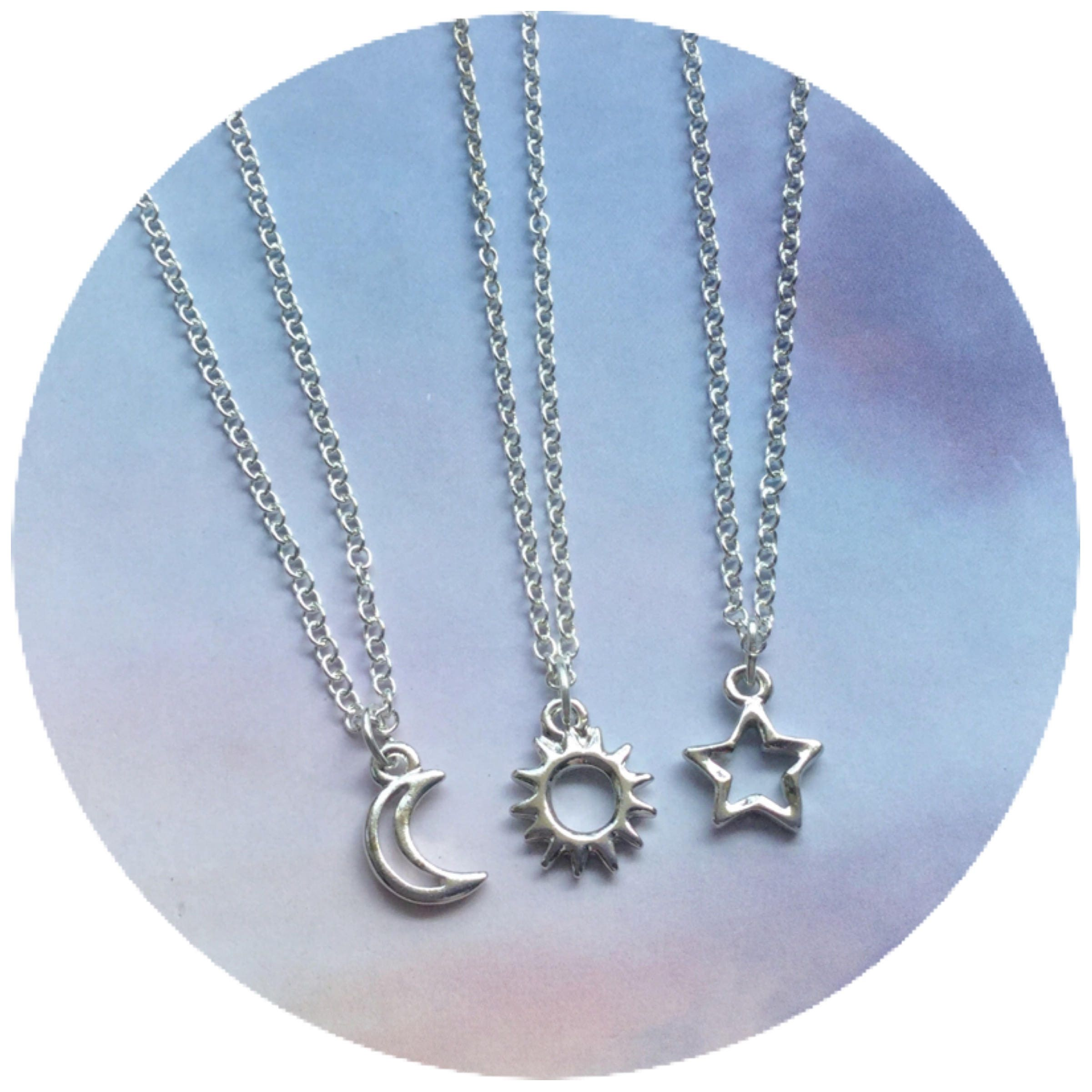 fullxfull minimalist necklace moon sun il and necklaces jewelry friendship listing dainty