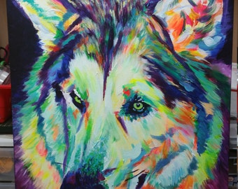 Abstract dog painting