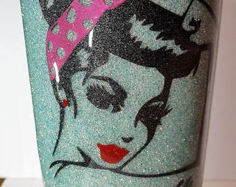 Glittered Tumbler,Mom Life Glittered Stainless Steel Tumbler,Over 75 Colors of Glitter
