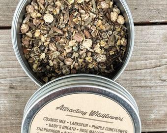 Attracting Wildflower Seeds 1 oz, 4 oz, 8 oz., wildflower seeds, bulk wildflower seeds, wildflower seed mix, butterfly garden seeds,