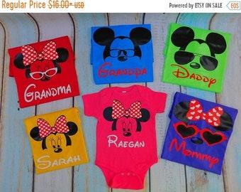 ON SALE Disney Family Shirts Disney Shirts Mickey and Minnie Head Custom Disney Trip Shirt I Cruise