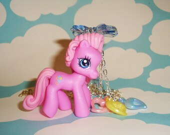 Pinkie Pie Pony Pastel Balloon Hearts Necklace