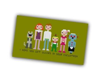 The Jetsons Pixel People Cross Stitch PDF