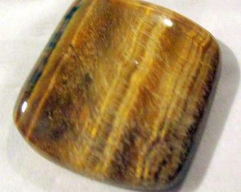 Eye of Tiger quartz - ref49056 - non pierced