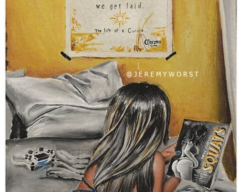 JEREMY WORST Corona beer ad Artwork Signed Print poster
