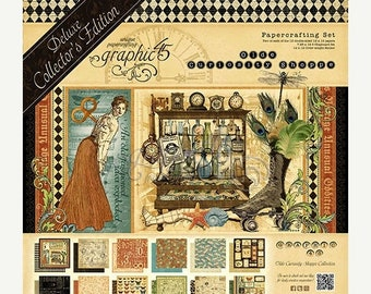 ON SALE Graphic 45 Old Curiosity Shoppe 12x12 Deluxe Collectors Edition Paper Pack