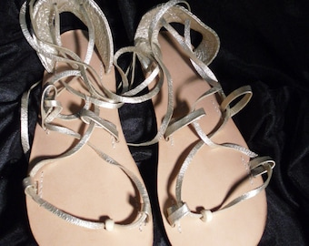 BELLA CARIBE PLATINUM on Oak-Tan Lace Up Sandals