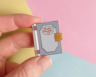 BLUE TALE BOOK - Polly Pocket hard enamel pin