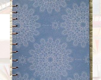 Large Hardcover Blue Detailed Sketchbook