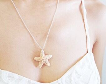 Starfish Necklace - Mermaid Accessories, Starfish Jewelry, Nautical Necklace, Nautical Accessories, Beach Jewelry, Ariel Accessories
