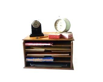 Vintage Desk Organizer Mail Holder Vintage furniture Desk Decor Desk Accessory 1930-1950s