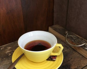 Fake Cup Tea Hand Crafted Yellow Teacup Photo Prop Home Staging