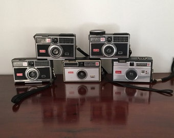 5 x Vintage collectable Kodak instant Cameras 50 104 300 304 400