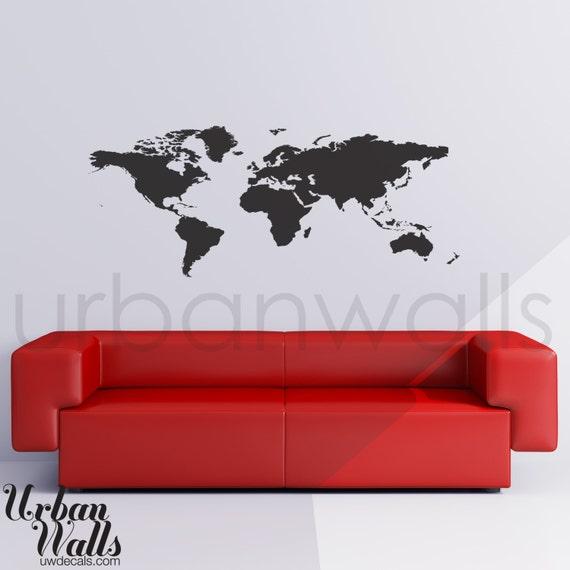 Vinyl wall sticker decal art world map gumiabroncs Images