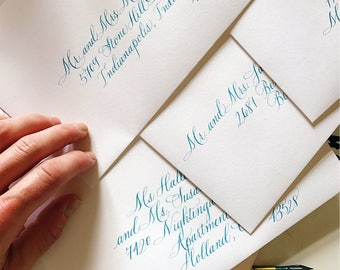 Envelope Calligraphy Hand Addressing for Wedding Invitations, Parties and Special Occasions