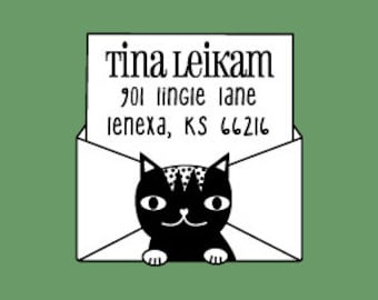 Meow Cat Stamp (Pre-inked Stamp / Self Inking Stamp) Teacher Stamp, Address Stamp, Back to School, Library Stamp, Sign and Return (P2416)