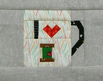 I Heart Sewing, a paper piecing pattern