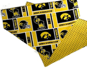Iowa Hawkeyes Over the Collar Dog Bandana // Iowa Hawkeyes Reversible Dog Bandanna // Iowa Hawkeyes Dog Scarf // Iowa Dog Gift